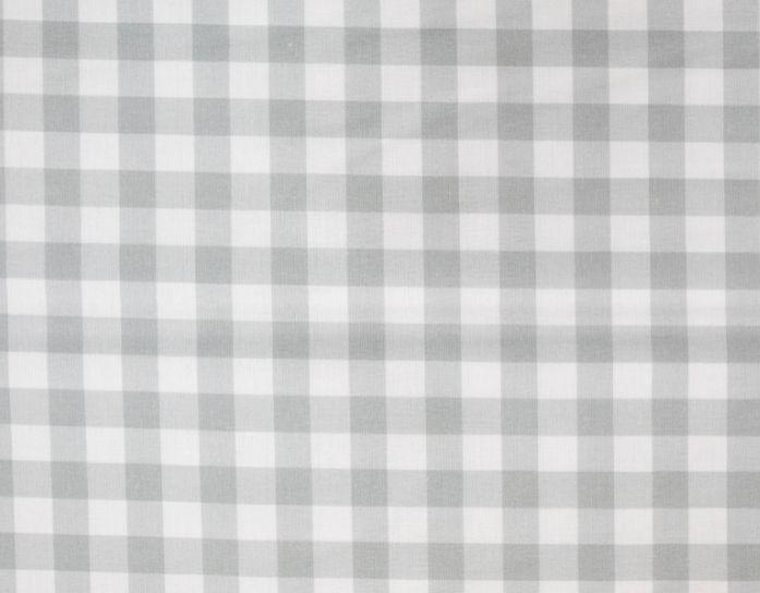 Popelín algodón cuadros grande gris