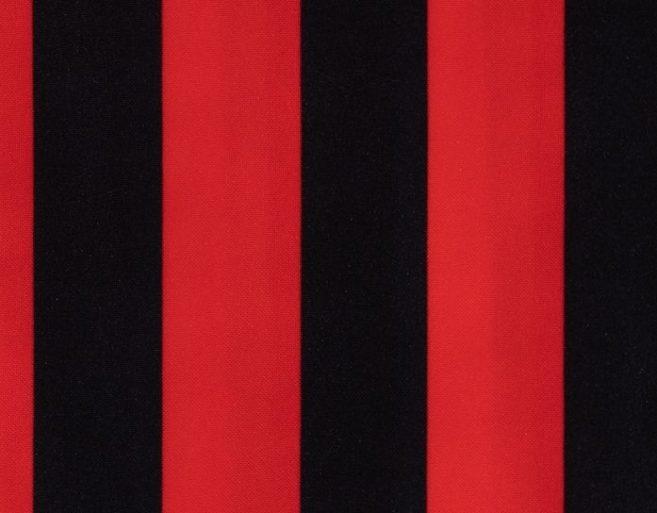 Carnaval fiesta strech estampado rallas negro / rojo