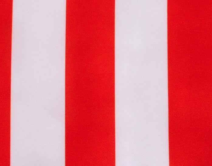 Carnaval fiesta strech estampado rallas blanco / rojo