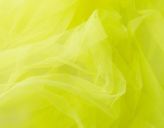 Carnaval fiesta tul liso amarillo fluor