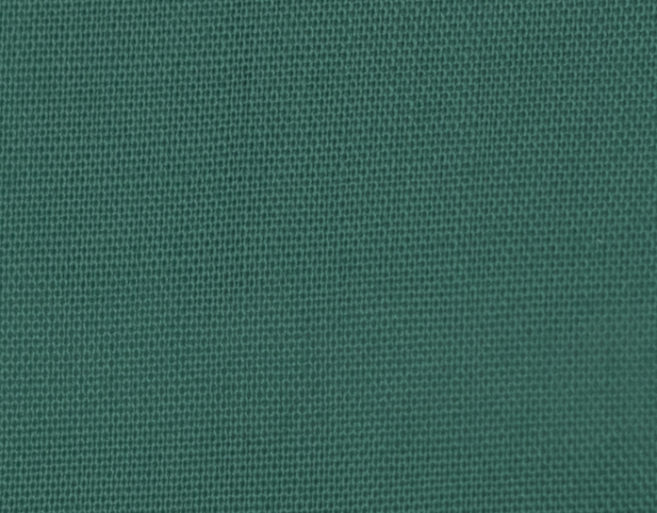 Popelín poliéster algodón verde