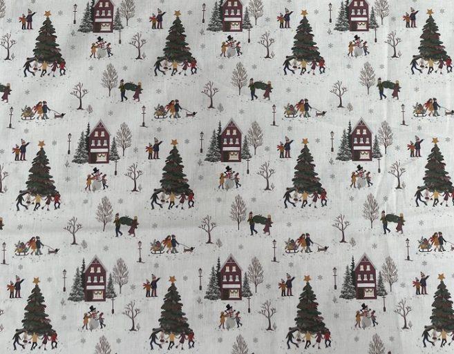 popelín algodón navidad dibujo 10